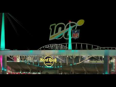Super Bowl LIV Projection Mapping Sky Projection from OMNISPACE360