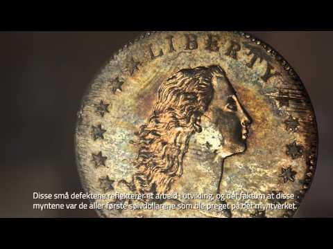 """Verdens dyreste mynt """"Flowing hair"""" 1794 - kommer til Historisk museum i Oslo i mars"""