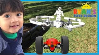 Parrot Mini Drone Airborne Mars and Max Jumping Race