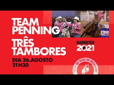 BARRETOS 2021 - 26/08 - Team Penning e Três Tambores