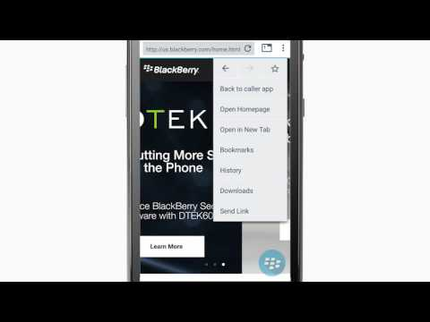 BlackBerry Access Secure Browser Tutorial (Android)