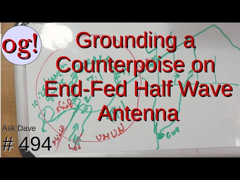 Grounding a Counterpoise on End-Fed Half Wave Antenna (#494)