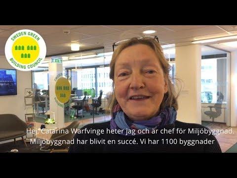 Catarina Warfvinge om Miljöbyggnadsdagen 2018, den 12 april i Stockholm.