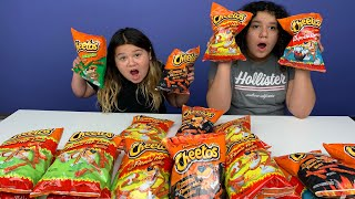 Don't Choose the Wrong Hot Cheetos Slime Challenge