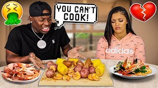 BEING MEAN To My Wife To See How She Would React (SHRIMP BOIL SEAFOOD MUKBANG)