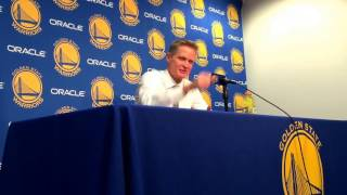 Steve Kerr postgame, Warriors (18-3) vs Pacers: Klay's 60 points, Stephen Curry/Durant alley-oop