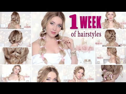 BACK TO SCHOOL: 1 WEEK OF HAIRSTYLES  or everyday – easy, cute, quick hair tutorial