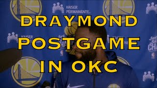 "Entire DRAYMOND postgame: Klay defending Westbrook, all-Defense?; ""threatened"" post-Phoenix loss"