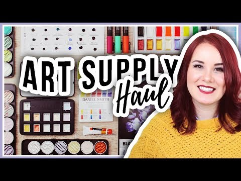 Art Supply Haul! New Watercolors, Paper, Pens & More Discoveries!