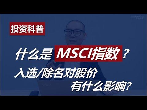 什么是MSCI指数 ?入选/除名对股价有什么影响?What is MSCI Index?【投资科普】