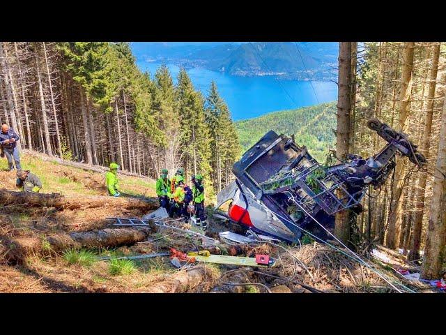 義大利登山纜車空中墜地14人死亡 初步判斷為纜線斷裂