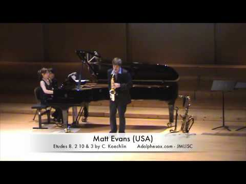 3rd JMLISC Matt Evans (USA) Etudes 8. 2 10 & 3 by C. Koechlin