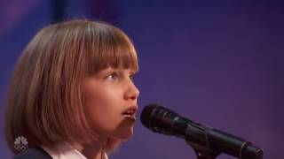 America's Got Talent 2016 - Grace Vanderwaal Full Audition Emotional Golden Buzzer