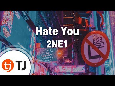 Hate You_2NE1 투애니원_TJ노래방 MR (KR)