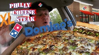 Domino's ☆XL PHILLY CHEESE STEAK PIZZA☆ Food Review!!!