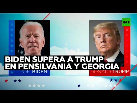 Biden supera a Trump en Pensilvania y Georgia, estados claves para la victoria en las elecciones
