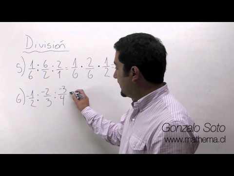 Fracciones: División de fracciones