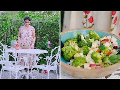 Salads:  Broccoli Salad with Apples and Walnut   Apple Broccoli Salad Recipe   Home Garden Recipes