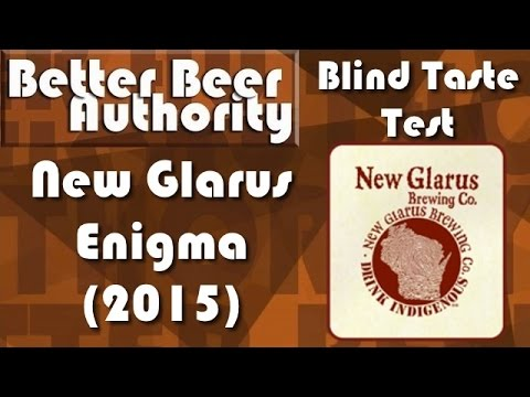New Glarus Enigma (2015) - BBA Blind Taste Test