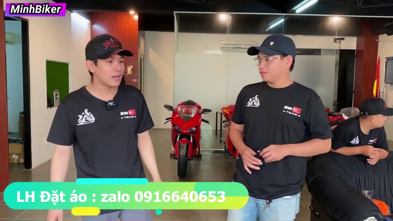 Diễn Viên  Hot Boy Ghé Mua Áo Team Moto MinhBiker