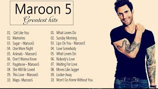 Maroon 5 Greatest Hits Full Album 2021-Maroon 5 Best Songs Playlist 2021