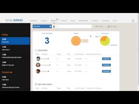 PerfectMIND 3 View Your Class Health with Check in