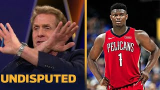 UNDISPUTED | Skip Bayless react to Zion gets 24 Pts in 21 Min but Kings overwhelm Pelicans 140-125