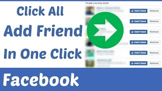 how to click all add friends in one click on facebook