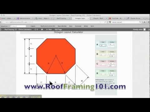 Octagon Layout Construction Calculator Youtube
