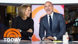 Matt And Katie Reunite At The Anchor Desk   Slice of Orange   TODAY