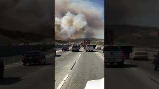 ANAHEIM HILLS/CORONA - FIRE IN THE HILLS! 10/09/17