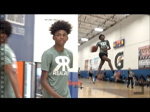 AJ Johnson (2023) Is Now 6'4 and DUNKING with EASE!!  Catch Him on the Nike EYBL This Summer!!