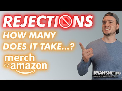 AMAZON MERCH: How Many Rejections to Lose Your Account?