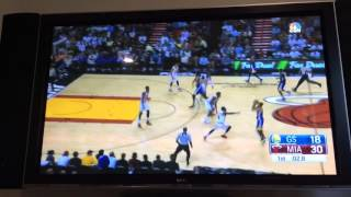 Steph Curry hits a DEEP 3 vs Heat