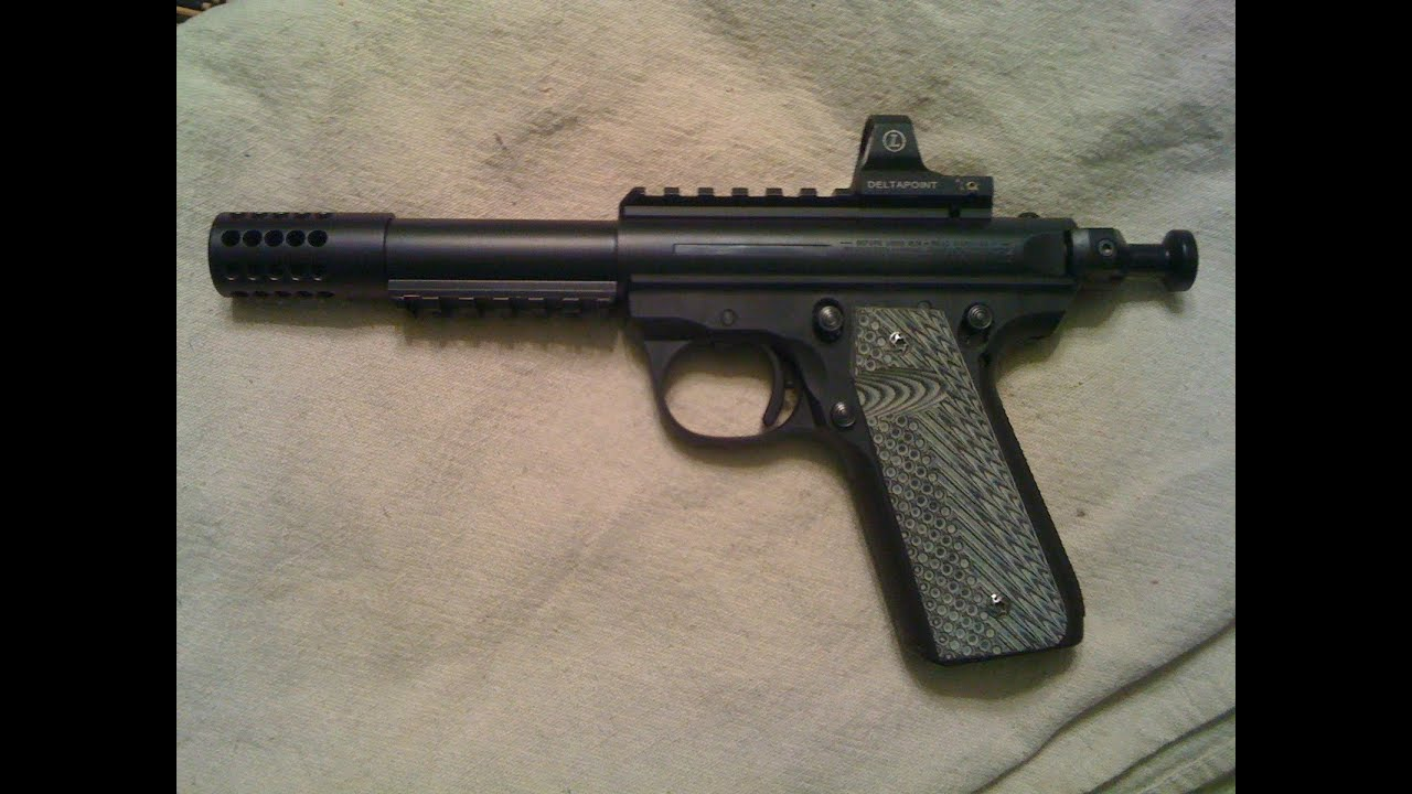 Ruger Mark Iii 22 45 Race Gun With Leupold Delta Point