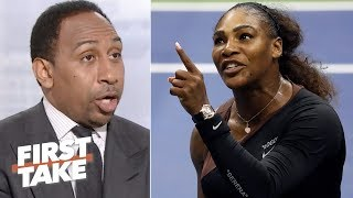 Stephen A. says Serena Williams was wrong for 2018 US Open controversy | First Take | ESPN