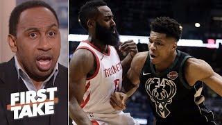 Stephen A. takes James Harden over Giannis Antetokounmpo 'any day of the week' | First Take