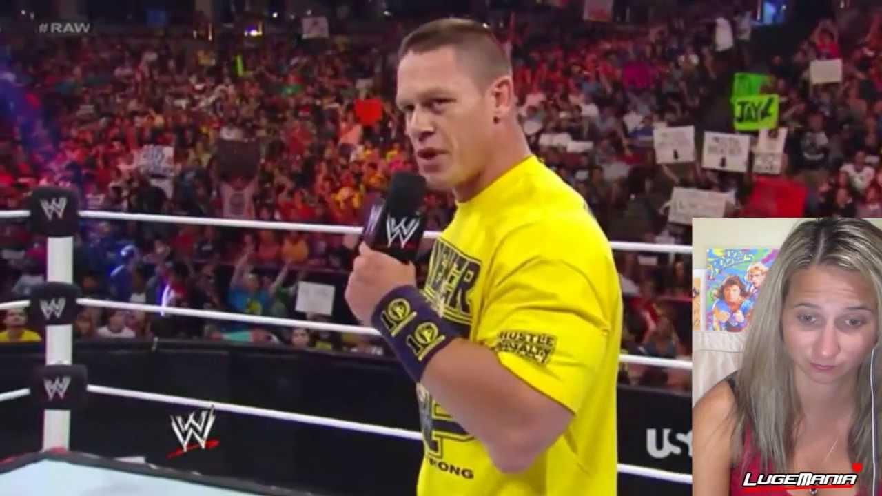 WWE Raw 8/19/13 John Cena Leaves WWE and Daniel Bryan ...