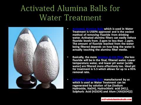 Activated Alumina Balls for Water Treatment