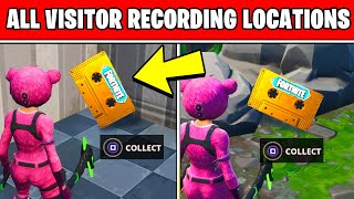 Collect the Visitor Recording in Moisty Palms and Greasy Grove Location - Fortnite OUT OF TIME