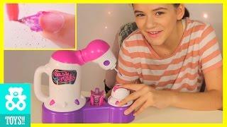 ROBOT NAIL! Easy Nails Nail Spa! PEEL OFF NAIL POLISH! | DIY Tutorial Kids Toy Review |  KITTIESMAMA