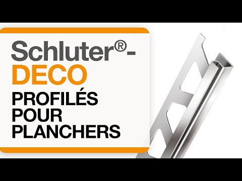 Comment installer un profilé de transition dans un carrelage au sol : Schluter®-DECO