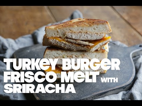 Turkey Burger Frisco Melt with Sriracha
