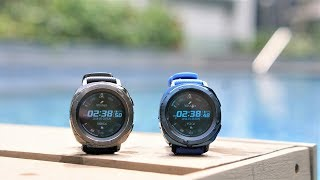 Samsung gear sport black vs blue 2018