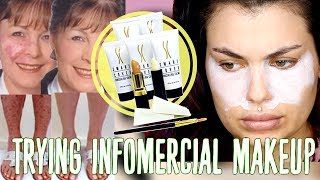 TRYING INFOMERCIAL MAKEUP CLAIMS TO COVER IT ALL ! SWEAT PROOF MAKEUP | Bailey Sarian