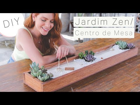DIY Centro de mesa Jardim Zen