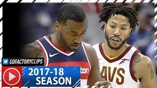 Derrick Rose vs John Wall PG Duel Highlights (2017.11.03) Wizards vs Cavaliers - SICK!