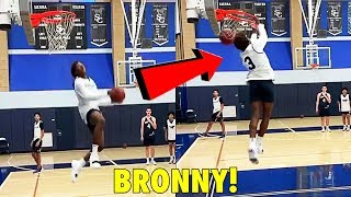 15-year old LeBron James Jr. DUNKS EASY NOW!