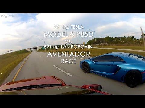 Улична трка: Tesla Model S ПРОТИВ Lamborghini Aventador