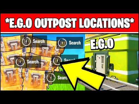 E.G.O. OUTPOST LOCATIONS - SEARCH CHESTS AT EGO OUTPOSTS & VISIT DIFFERENT (Fortnite Week 4)